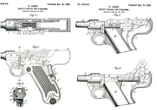 Luger 12 Protótipo de Georg Luger de 1895 e 1896