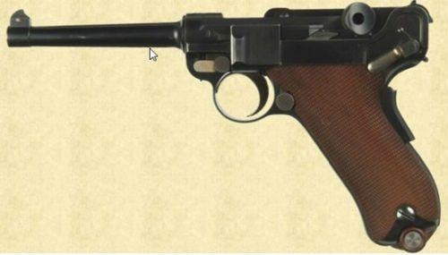 Luger 14 Pistola Parabellum modelo 1900
