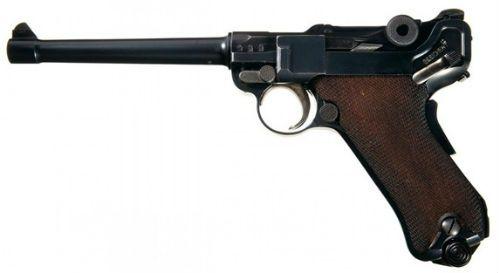 Luger 38 A Luger Navy 1906 em calibre 9mm Parabellum