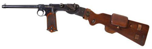 Luger 4 A pistola Borchardt de 1893 C93 em calibre 765mm com sua coronha