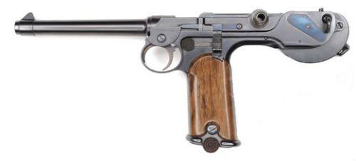 Luger 8 Raríssimo espécime da primeira versão da pistola Borchardt C93