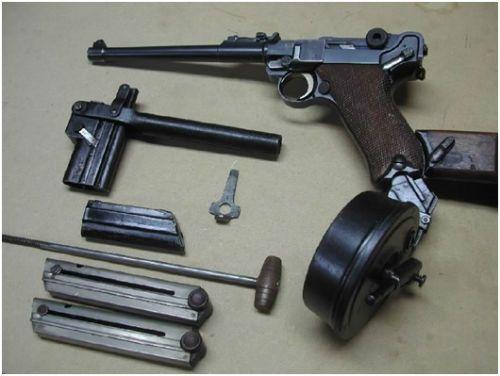 12. O conjunto acima acompanhava a maioria das pistolas modelo Artilharia