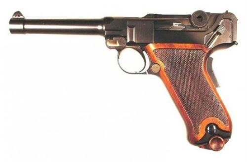 2. Cópia da pistola Parabellum Luger em calibre .45 fabricada a mão por Mike Krause USA