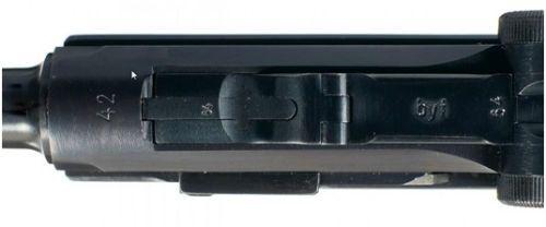 27. Detalhe da parte superior de uma P.08 Mauser
