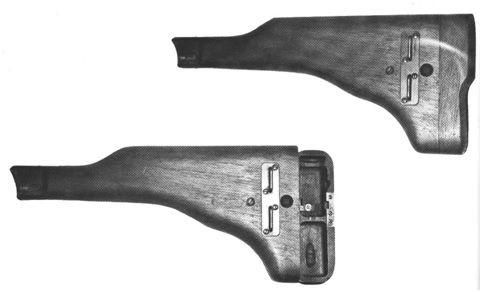 33. Coronhas destinadas às pistolas modelo Artillery