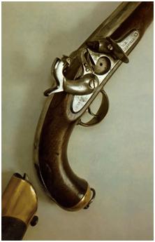 18. Pistola militar de percussão norte americana Springfield de 1855