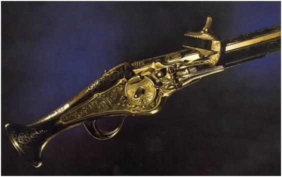 4. Magnífico exemplo de pistola de rodete de fabricação alemã data desconhecida
