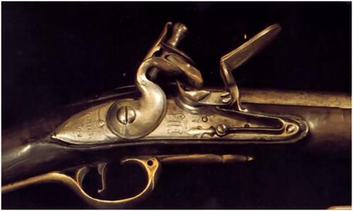 8. Um dos mais famosos exemplos de flintlock do mundo o fecho do mosquete Brown Bess