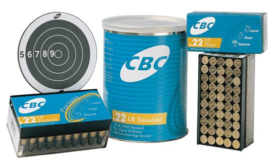 10 produtos da CBC na linha de cartuchos calibre .22