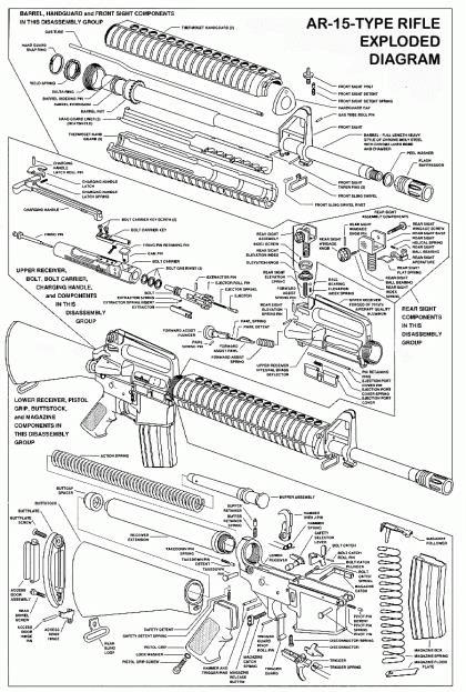 07. Vista explodida do M16A1