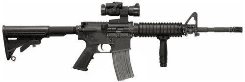 14. Carabina M4A1 com coronha estendida